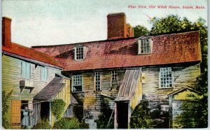 SALEM, MA Massachusetts   OLD WITCH HOUSE Rear View  1910  Postcard