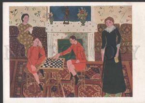 112131 Checkers Portrait de Famille Henri MATISSE Vintage PC