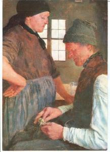 Wilhelm Leibl, Der Spargroschen, The Savings, unused Postcard