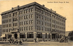 G54/ Fargo North Dakota Postcard 1911 Gardner Hotel Building