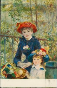 On the Terrace Pierre Auguste Renoire painting children red hat