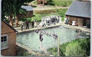 Mount Vernon Hot Springs, Oregon Postcard Bathing Scene Wesley Andrews c1910s