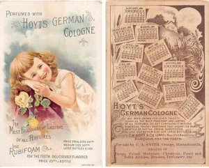 Victorian Trade Card Calander 1891Approx size inches = 3.5 x 5.5 Pre 1900 som...