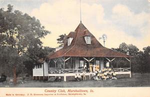 Marshalltown Iowa~Victorian Country Club Crowd on Porch~Windvane~1907 Simmons PC