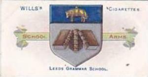 Wills Vintage Cigarette Card School Arms 1906 No 39 Leeds Grammar School
