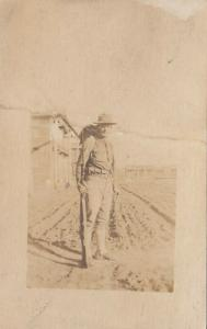 RP; Soldier with Backpack and Rifle, 1900-10s
