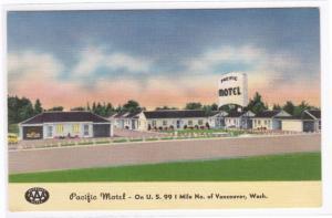 Pacific Motel US 99 Highway Vancouver Washington postcard