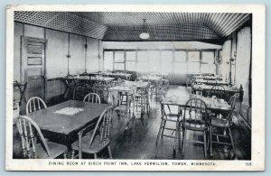 Postcard MN Tower Lake Vermilion Dining Room at Birch Point Inn Interior U04