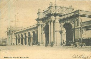 Artist Columbus Ohio Railroad Union Station Jordan 1906 Postcard 11825