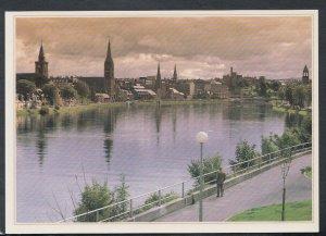 Scotland Postcard - Inverness From Friars Bridge     T4047