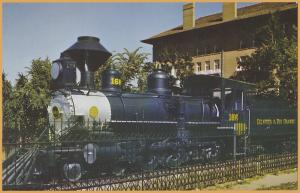 Colorado Springs, Colo., D&RGW Narrow Gauge #166, 2-6-0, At the Antlers Hotel