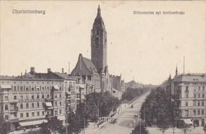 Germany Charlottenburg Wilhelmplatz mit Berlinerstrasse