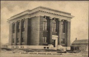 Moose Jaw Saskatchewan Court House c1910 Postcard
