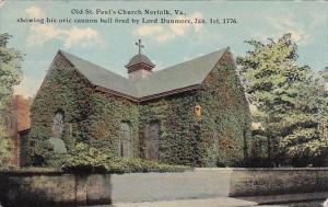 Old Saint Pauls Church Norfolk Virginia 1911