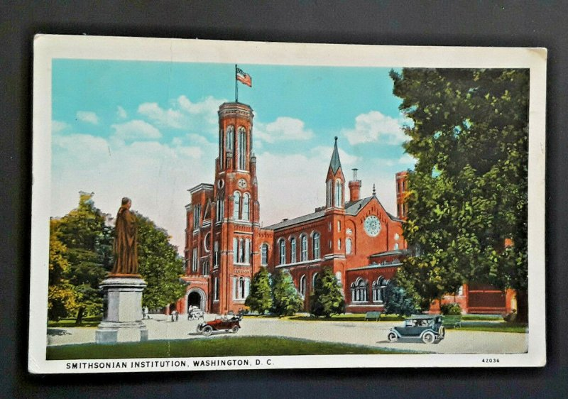 Mint Vintage Washington DC Smithsonian Institution 1920s Postcard