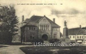 Clay Library East Jaffrey NH Unused