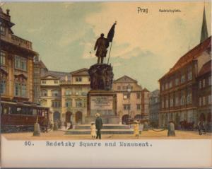 Prague Czech Republic - Radetzky Square  now known as Malostrans Square 1900s