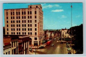 Mansfield OH, Main Street, Square, Drugstore, Chrome Ohio Postcard
