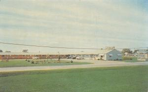Cheboygan Michigan~Moon E Motel~1950s Postcard