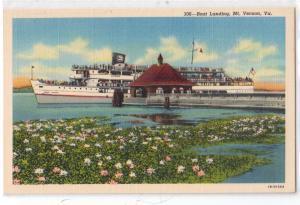 Boat Landing, Mt Vernon VA