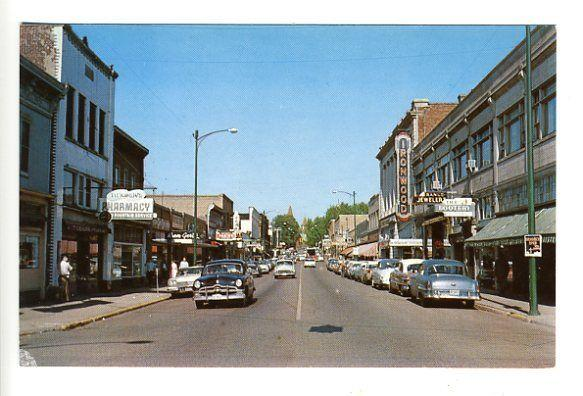 Ironwood MI Street View Old Cars Trucks Vintage Store Fronts Postcard