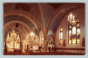Strasberg ND- North Dakota Interior St Peter and Paul Cathedral Chrome Postcard