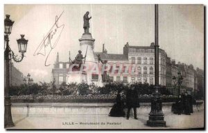 Postcard Old Lille Pasteur Monument Police Officer