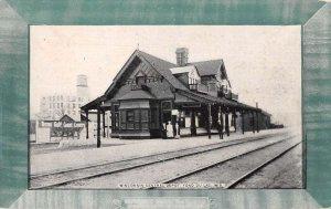 Fond Du Lac Wisconsin Train Station Vintage Postcard AA29855
