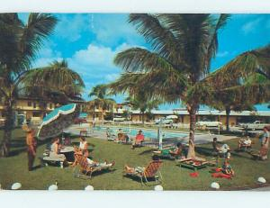 Pre-1980 MOTEL SCENE Fort Lauderdale Florida FL hk1148