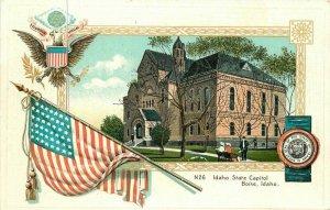 Boise Idaho C-1910 Idaho State Capitol  Postcard Langsdorf SL& CO 20-2366