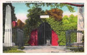 George Washington's Tomb at Mt. Vernon, VA, Early Postcard, Unused