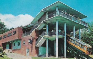 CHATTANOOGA, Tennessee, 1950-1960's; Incline Car And Terminal Station Atop Lo...