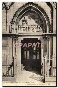 Old Postcard Dover Delivrande The south portal of the Basilica