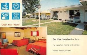 Glen Cove Maine Sea View Motel Interior View Vintage Postcard J77041