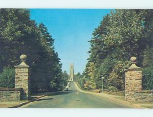 Unused Pre-1980 DUKE UNIVERSITY GATE TO CHAPEL Durham North Carolina NC A6356