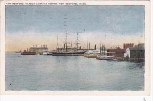 Massachusetts New Bedford The Harbor Looking South 1923