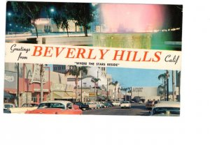 Greetings from. Beverly Hills, California, 50's Cars