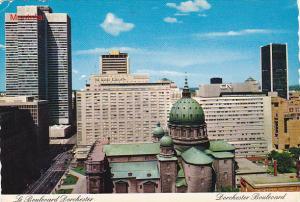 Canada Dorchester Boulevard Montreal Quebec