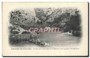 Old Postcard Fontaine de Vaucluse Lake Cascades and the Grove of the feast Ch...