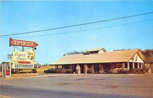 Maryville TN Spikes Simple Simon Restaurant Telephone Booth Postcard