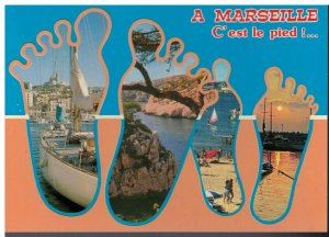 Postcard - Footprints C' est le Pied- Marseille France