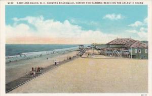 North Carolina Carolina Beach Showing The Boardwalk Casino and Bathing Beach ...