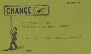 Change Bad Habits Signpost Time For YOU To Make Changes Proverb Motto Postcard