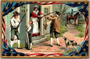 1910s TUCK'S Embossed Patriotic Postcard Call to Arms - American Revolution