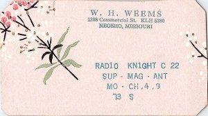 QSL Radio Card From Neosho Missouri