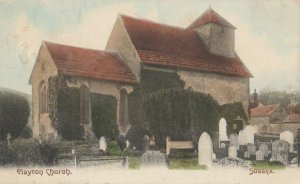 Clayton Church , Sussex,  England, 1905
