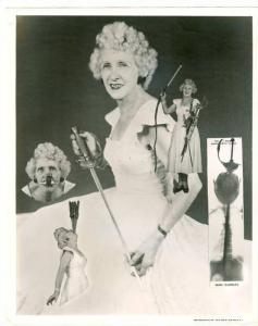 Photo 8by10; Female Sword Swallower with X-ray , 1930s