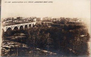 Washington DC from Wardman Park Hotel #104 Unused Real Photo Postcard E87