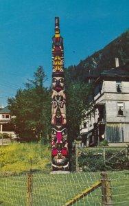 JUNEAU, Alaska, 1940-60s; Old Witch Totem Pole