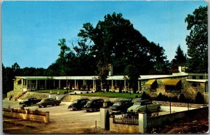 Hendersonville, NC Postcard TERRACE COURT HOTEL Roadside Early 1950s Cars Unused